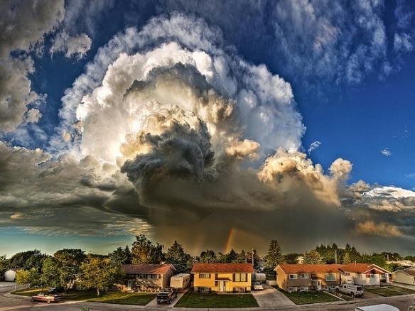 Thunderstorm Rainbow, Alberta, Canada
