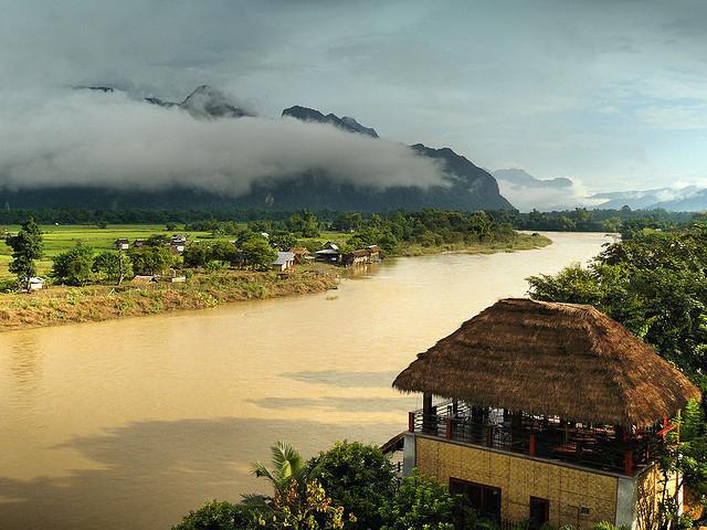 Ban Sabai riverside bungalow in Vang Vieng, Laos