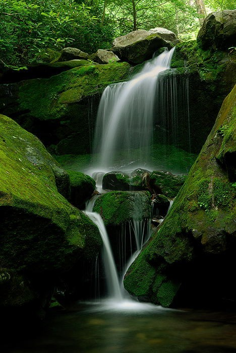Waterfall, Great Smokey Mountains, Tennessee
