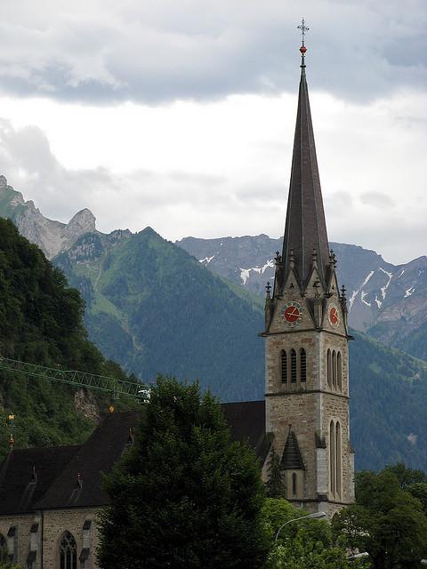 Kathedrale St. Florin in Vaduz, Liechtenstein