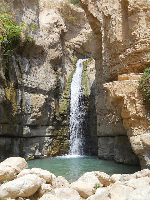 Waterfalls in Ein Gedi Nature Reserve, Israel