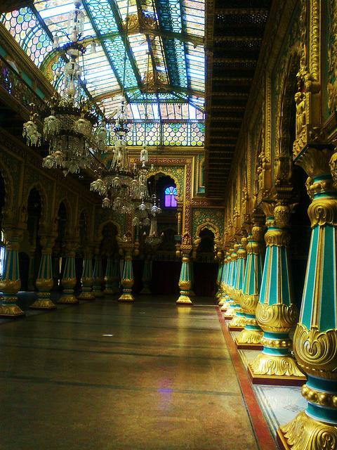 Ballroom inside Mysore Palace, Karnataka, India