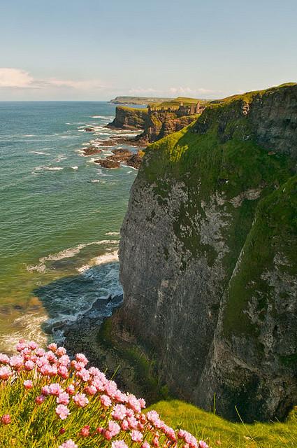 North Antrim coast near Dunluce Castle, Northern Ireland