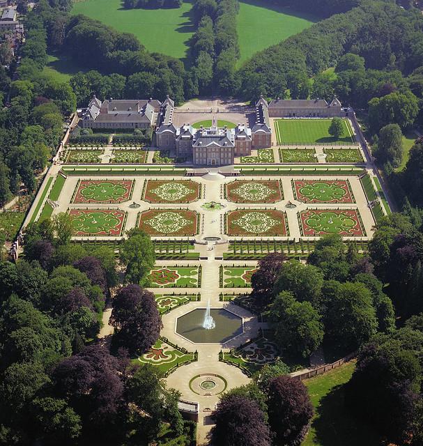 Aerial view of Het Loo Palace, near Apeldoorn, Netherlands