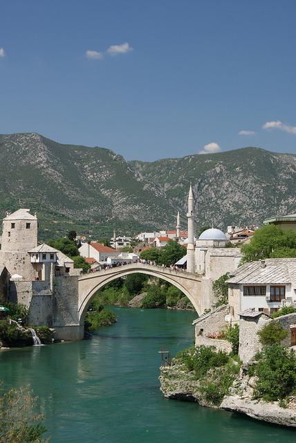 Stari Most, the old bridge of Mostar, Bosnia and Herzegovina