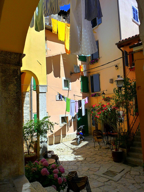 Laundry day in Rovinj, Istria, Croatia