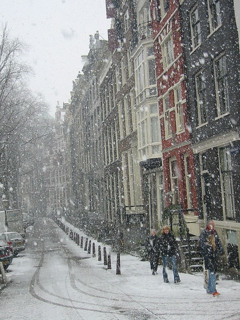 Snowy Day, Amsterdam, The Netherlands