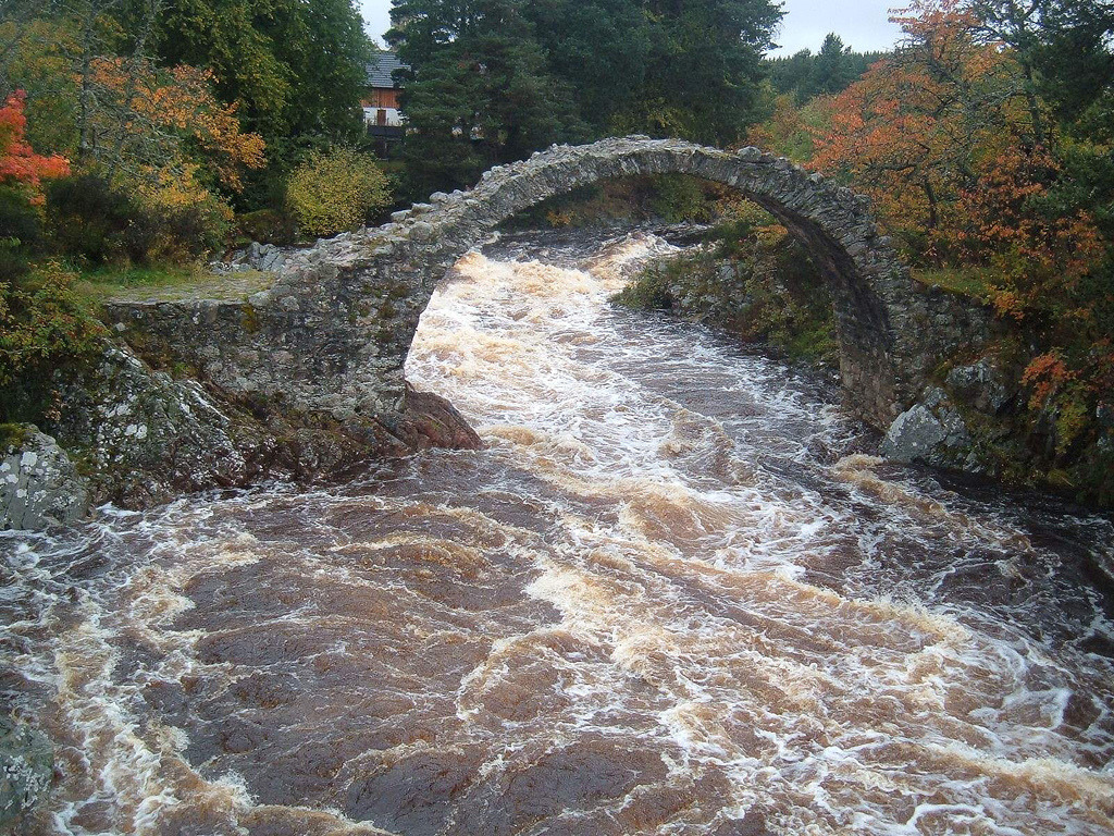 Ancient Carr Bridge, Scotland