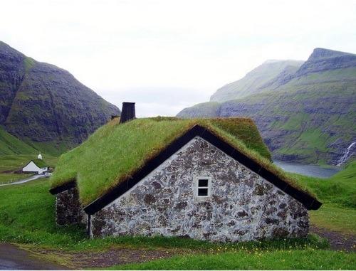 Grass Roofed House, Streymoy, Faroe Islands