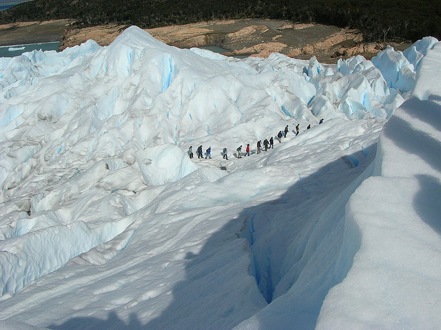 Trekking on Perito Moreno Glacier, Patagonia, Argentina