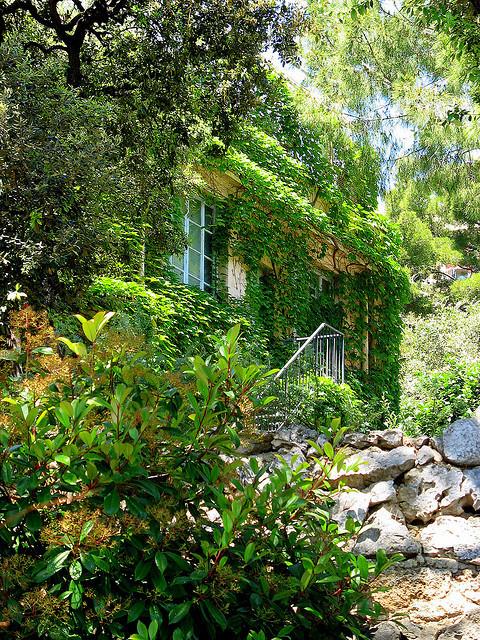 Hidden house in La Condamine District, Monaco-Ville