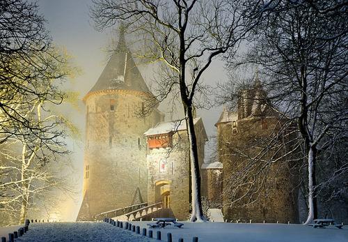 Winter's Night, Castle Coch, Wales