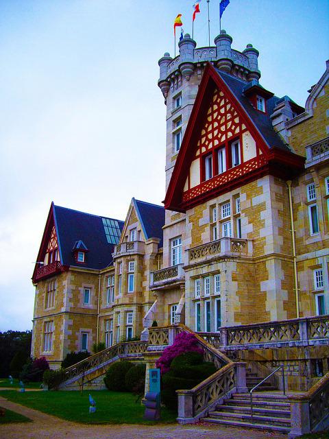 La Magdalena Palace in Santander, Spain