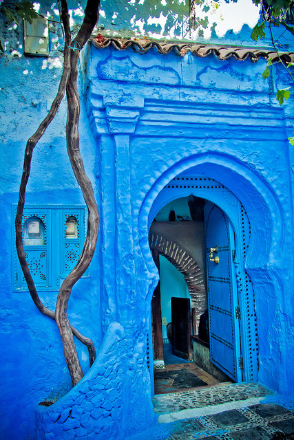The blue doors of Chefchaouen, Morocco