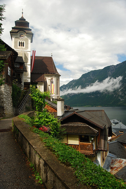 Lake Mist, Hallstatt, Austria