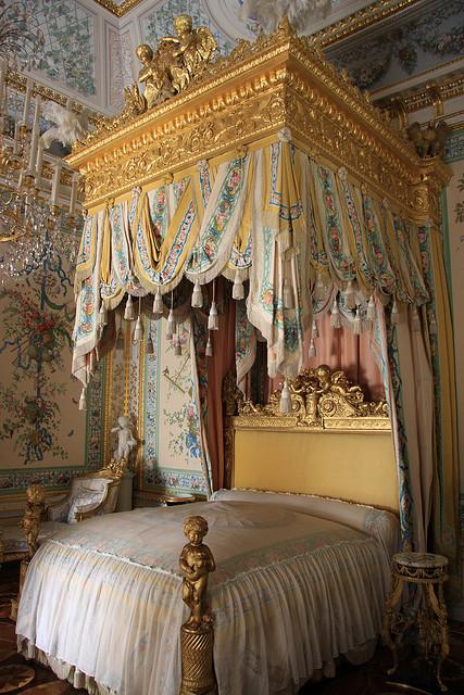 State Bedroom of the Empress Maria Feodorovna at Pavlovsk Palace, Saint Petersburg, Russia
