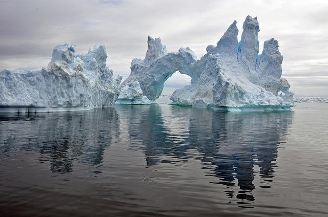 Iceberg near Aasiaat in western Greenland