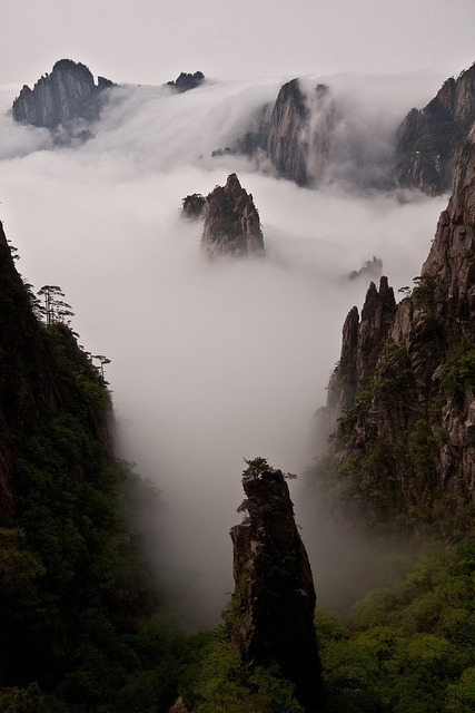 Cloud and mountain wonderland, Huang Shan, China