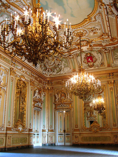 The Ballroom at Palazzo Parisio, Malta
