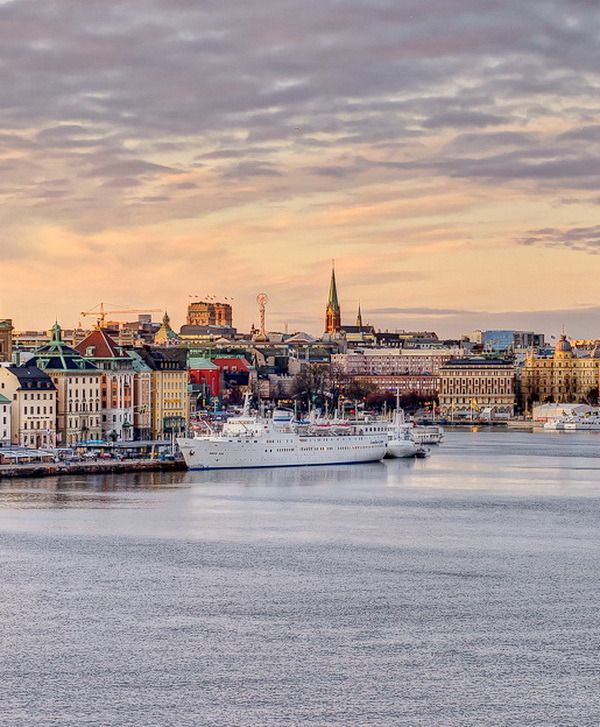 A city between water and sky, Stockholm, Sweden