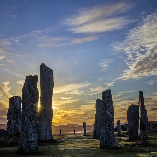 The Callanish Stones, one of the most spectacular megalithic monuments in Scotland