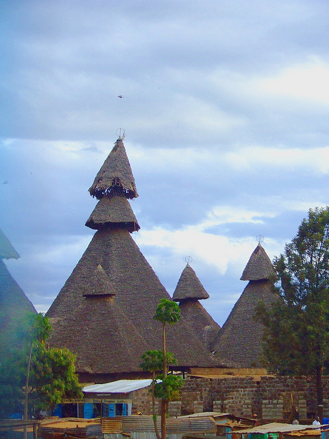 Peculiar looking houses near Mombasa, Kenya