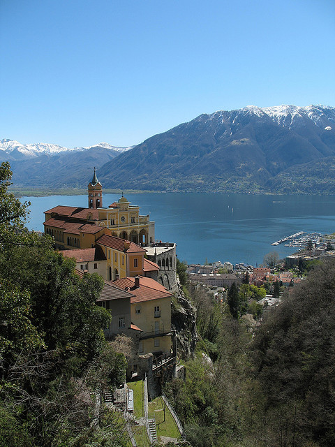 Sanctuary of Madonna del Sasso above Locarno, Switzerland