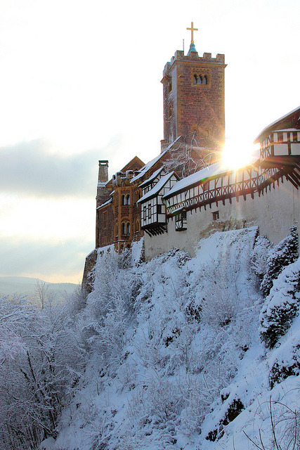 Winter at Wartburg Castle in Eisenach, Germany