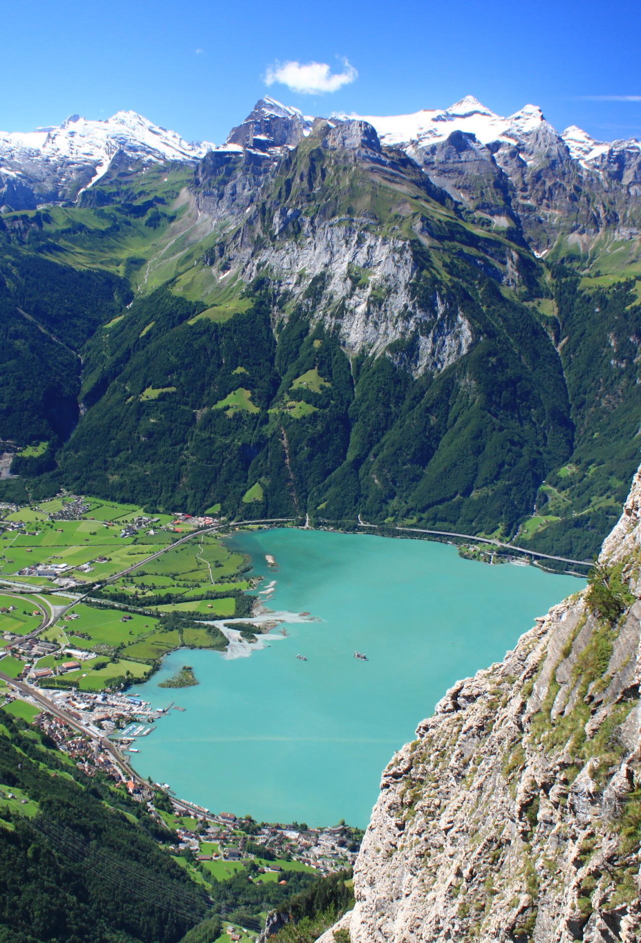 Overlooking Lake Lucerne in Uri Canton, Switzerland