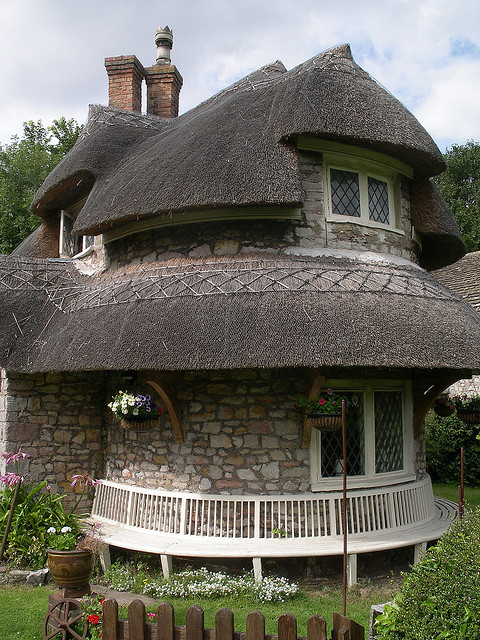 The Circular Cottage at Blaise Hamlet, Bristol, England