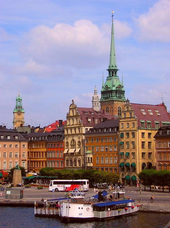 Beautiful old town of Stockholm, Sweden