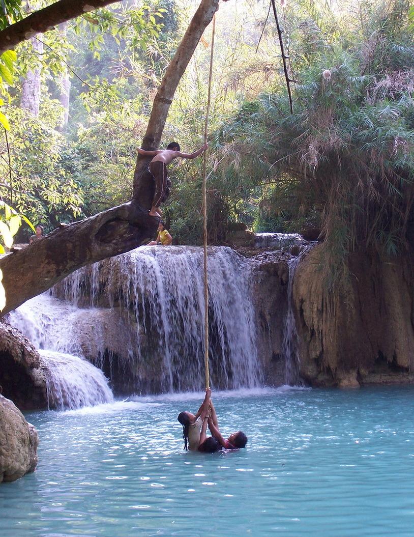 Paradise playground, Kuang Si Falls, Laos