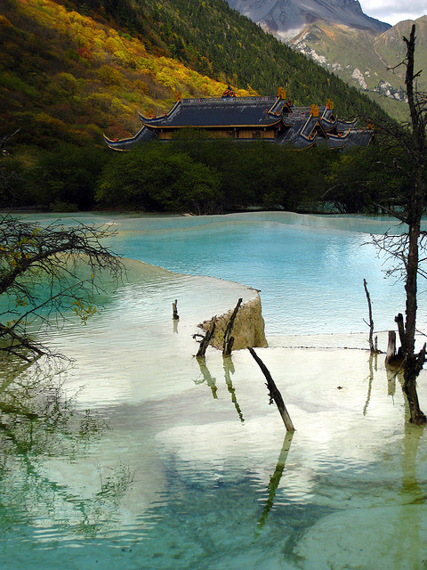 Huanglong Scenic Area in Sichuan, China