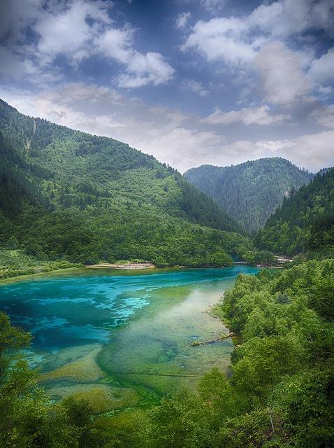 The blue lakes of Jiuzhaigou Valley, China