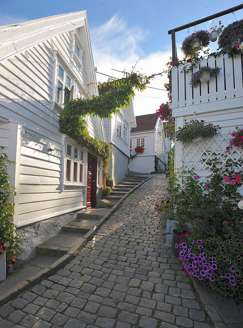 On the streets of Stavanger, Norway