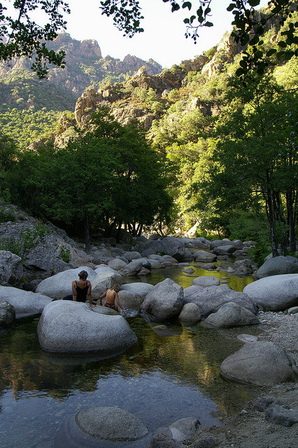 Gorges de Spelunca in Corsica, France