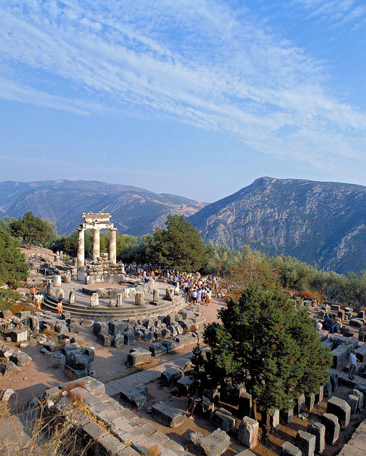 The Sanctuary of Athena at Delphi, Greece