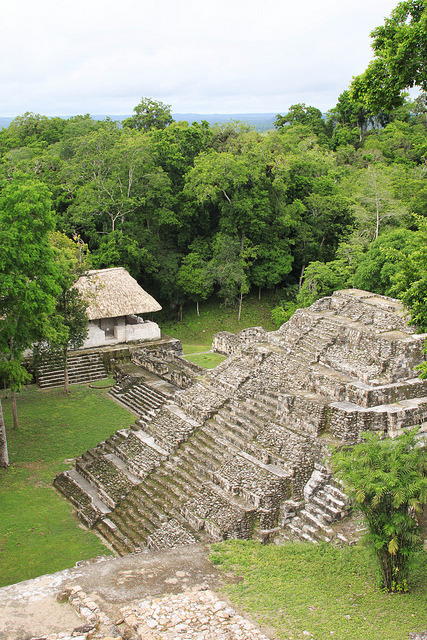 The mayan archeological site at Yaxha in Peten, Guatemala