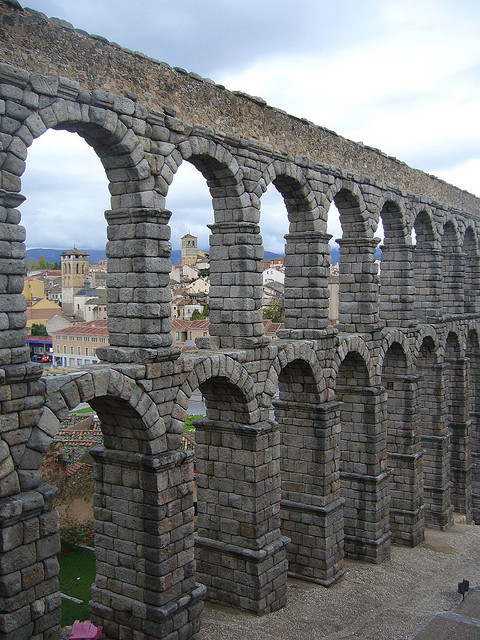 Empire remains, Aqueduct of Segovia / Spain