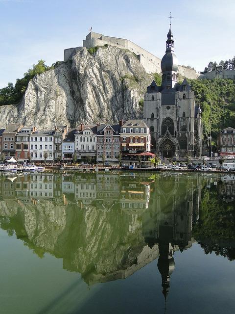 Meuse river reflections, Dinant / Belgium