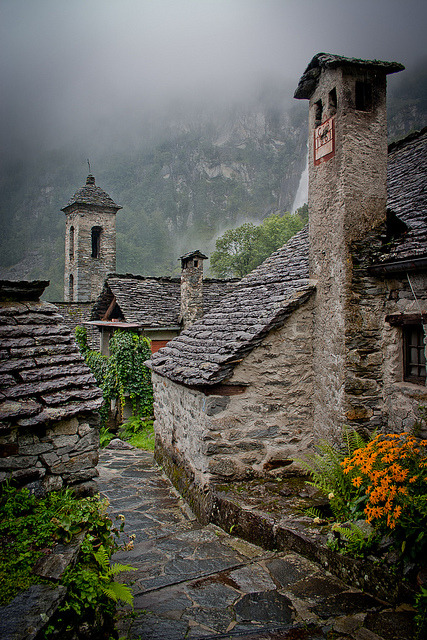 Rainy days in the Alps, Foroglio / Switzerland