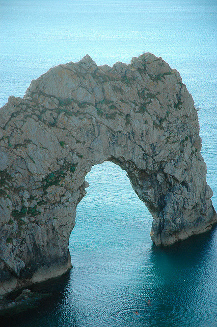 Durdle Door on the Dorset Coast / England