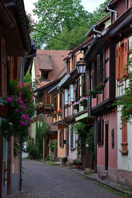 Charming streets of Kaysersberg, Alsace / France