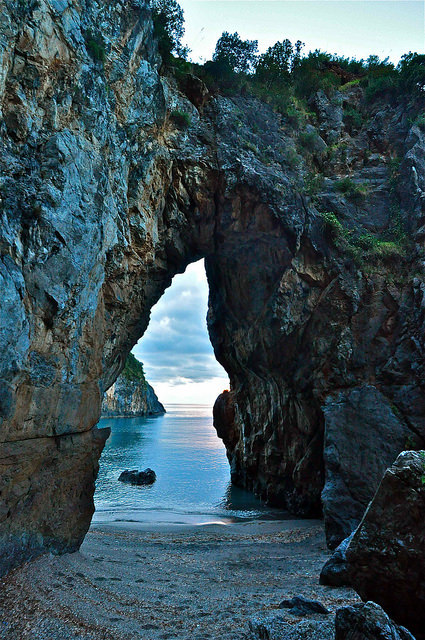 Arcomagno secluded beach, Calabria / Italy