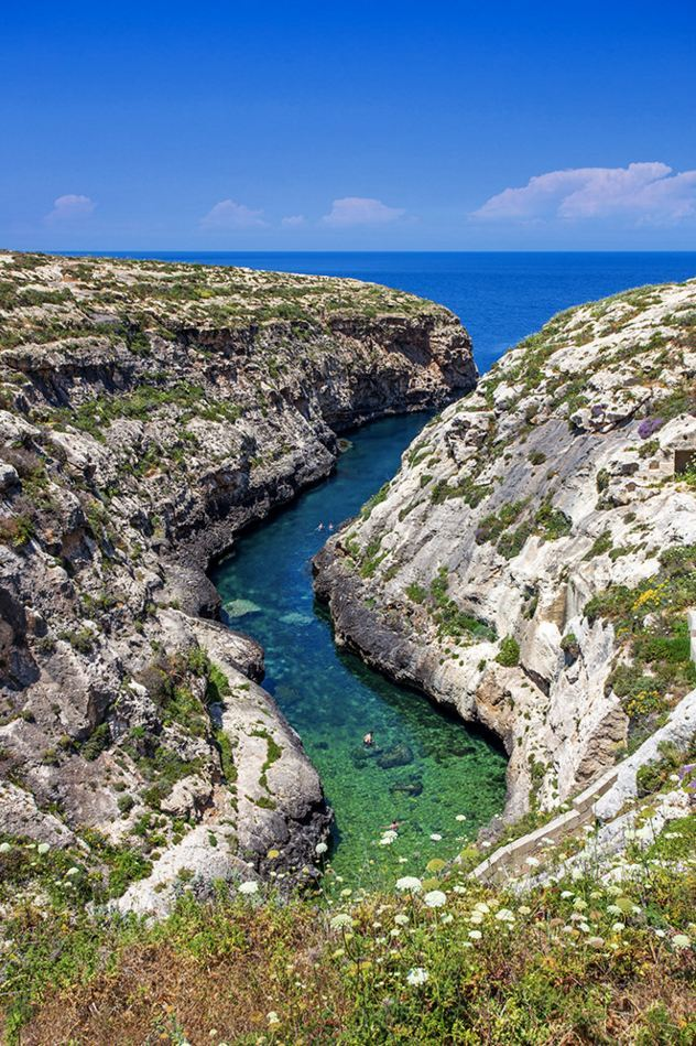 Wied L-Ghasri secluded bay / Malta